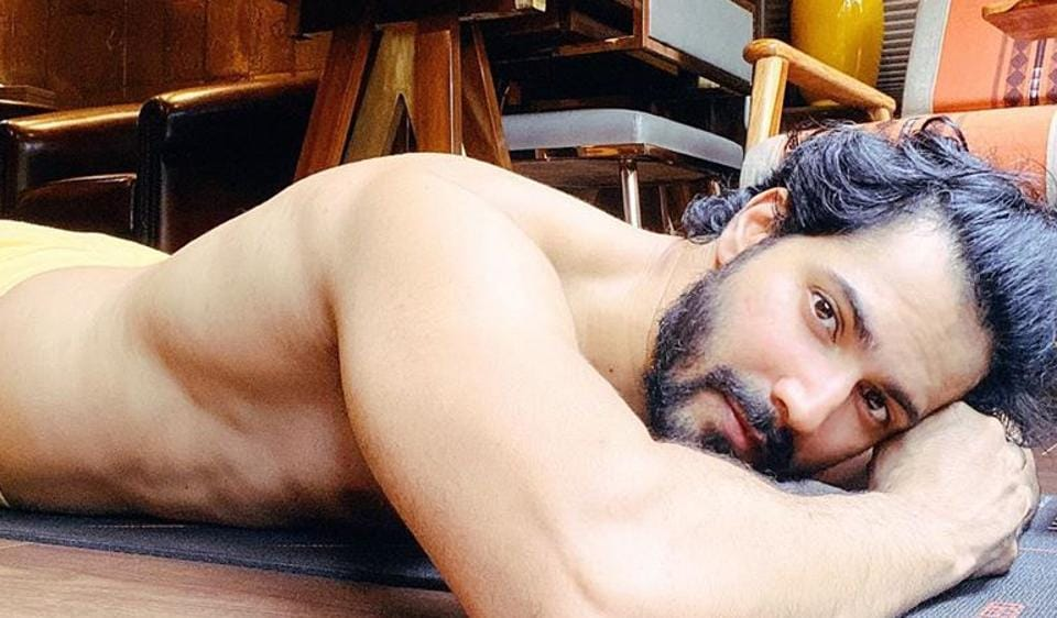 Varun Dhawan shared a shirtless photo on Instagram.