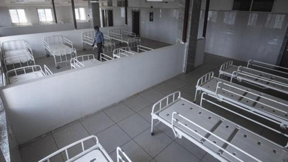 Quarantine ward for Covid-19 patients at the new building of Sassoon hospital.