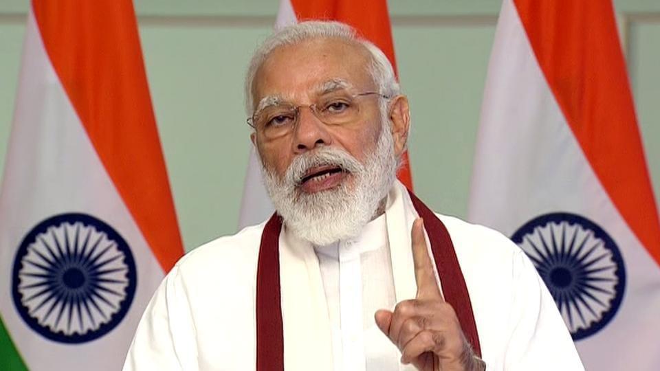 New Delhi, June 27 (ANI): Prime Minister Narendra Modi addresses his Mann Ki Baat's 66th episode.