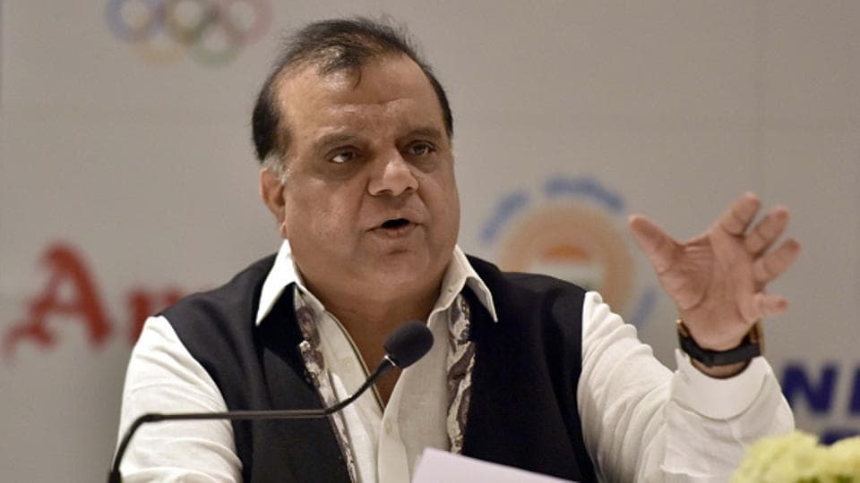 Indian Olympic Association President Narinder Batra during a press conference.