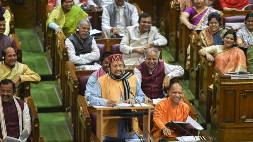 At present, there are 307 BJP MLAs in the Uttar Pradesh Legislative Assembly followed by the Samajwadi Party which has 48 MLAs. The Bahujan Samaj Party has 18 MLAs, while there are seven Congress MLAs.
