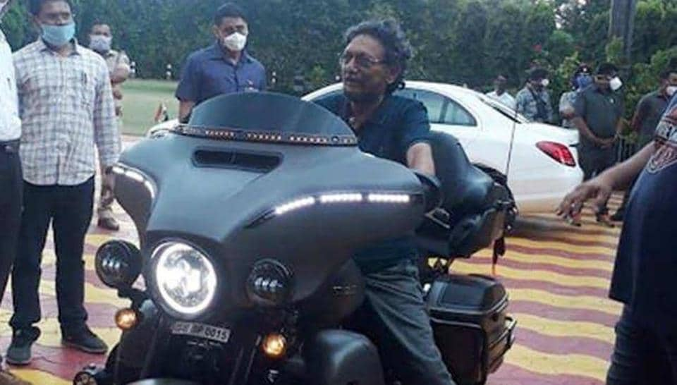 Justice Bobde was seen in a t-shirt and a pair of sneakers on the limited edition Harley Davidson CVO 2020 in his hometown of Nagpur on Sunday.