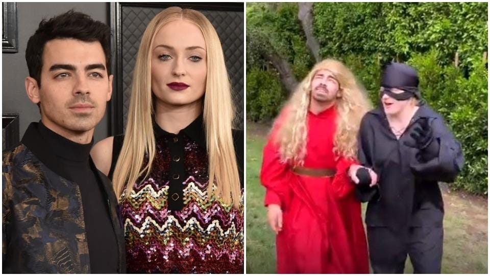 Joe Jonas plays Princess Buttercup while Sophie Turner Westley in the Quibi version of The Princess Bride.