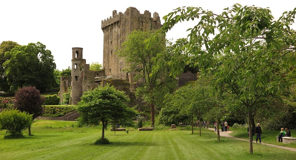 Blarney Castle, owned by Charles Colthurst. Legend has it that one of Colthurst's 15th-century predecessors had a speech impediment and that the castle proprietor saved a witch drowning in the lake on castle grounds. The witch told him that he would receive the gift of eloquence if he kissed the stone.