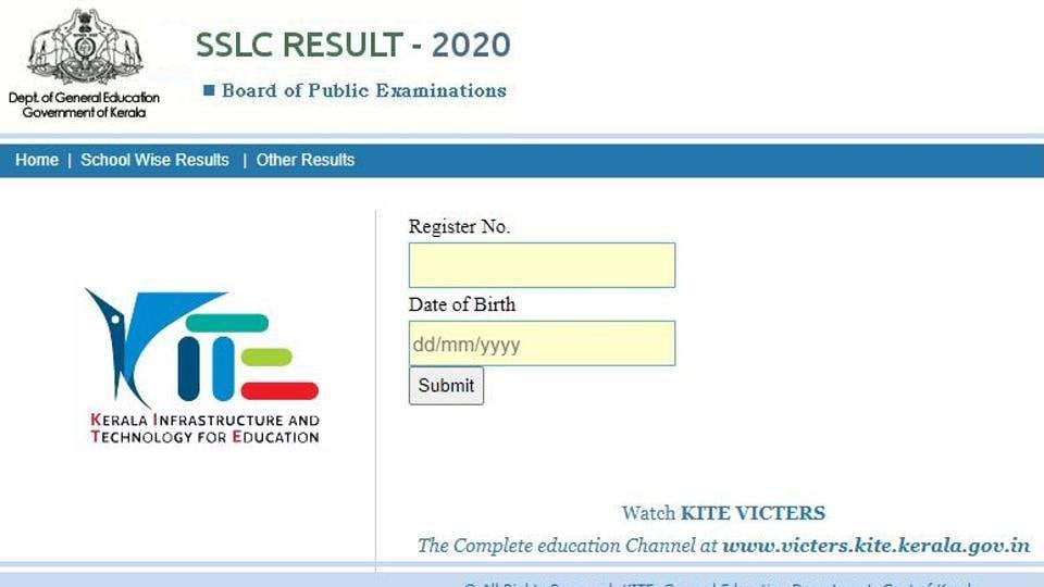 Kerala Board SSLC Result 2020.