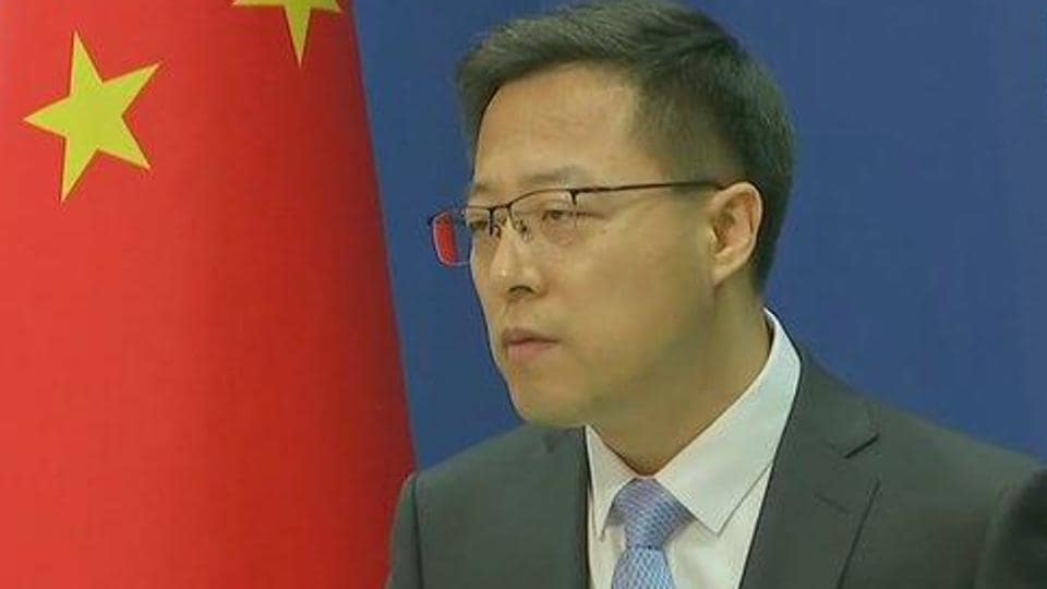 Chinese foreign ministry spokesperson Zhao Lijian.