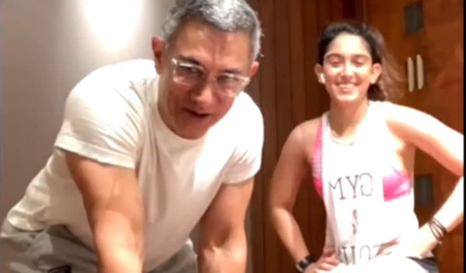 Aamir Khan made a surprise appearance during daughter Ira Khan's Instagram live.