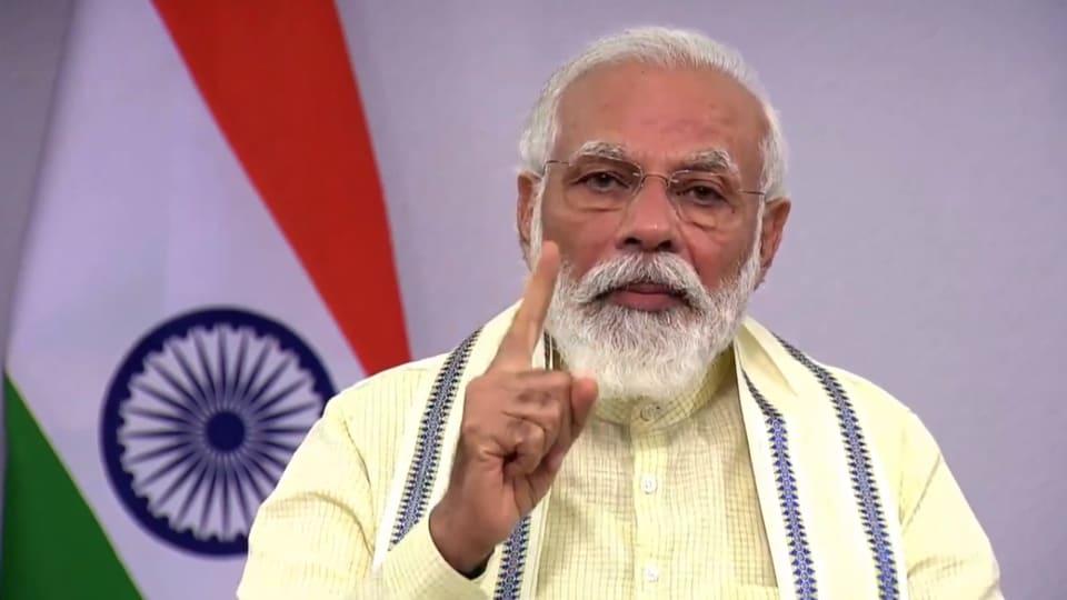 Prime Minister Narendra Modi during his address to the nation.