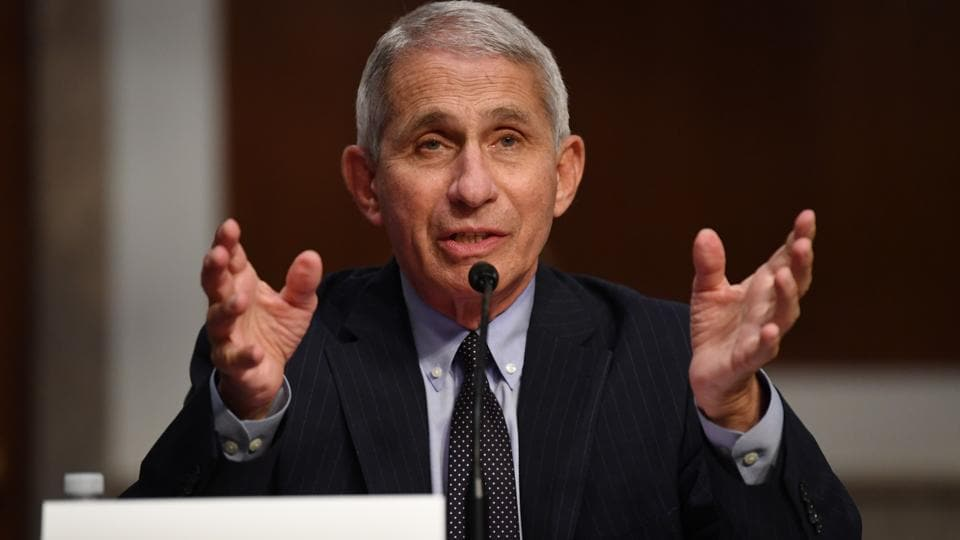 Anthony Fauci, director of the National Institute of Allergy and Infectious Diseases, speaks during a Senate Health, Education, Labor and Pensions Committee hearing in Washington, D.C, US, on Tuesday, June 30, 2020.