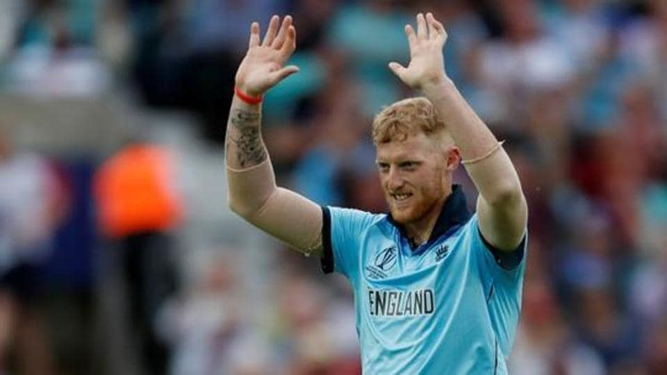 England's Ben Stokes celebrates the wicket of South Africa's Kagiso Rabada.