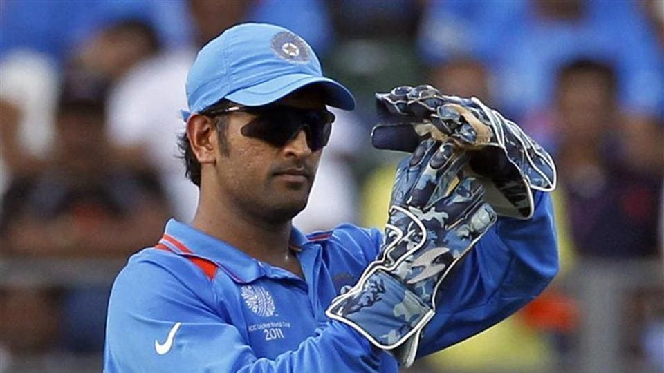 File image of MSDhoni taking a DRS call.