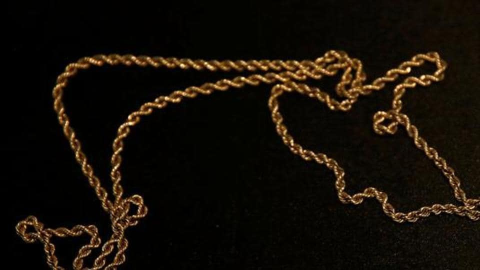 Two men snatched a gold chain from a woman out for a morning walk in Ludhiana early on Tuesday.