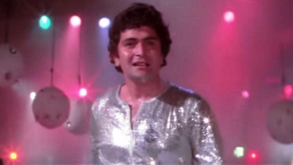 Rishi Kapoor in a still from Subhash Ghai's Karz.