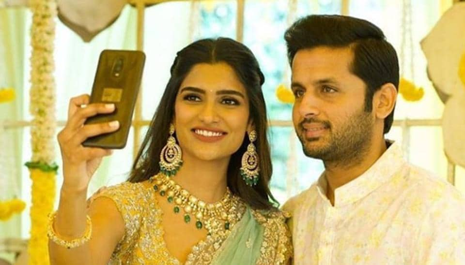 Nithiin and Shalini got engaged in February this year.