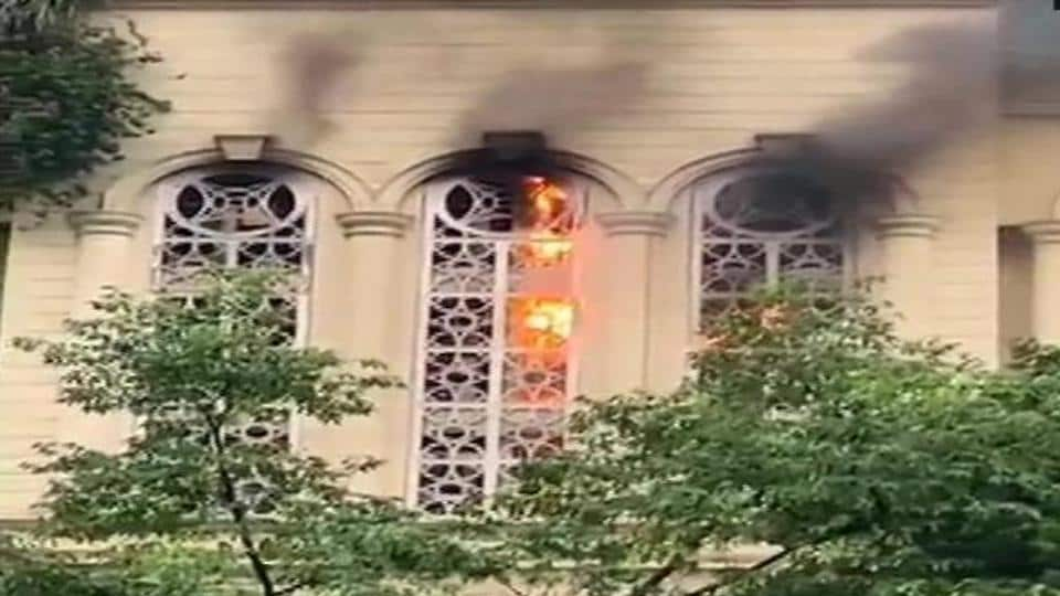 Fire broke out at a commercial building in Mumbai's Powai.