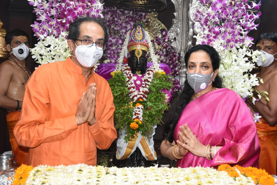 Maharashtra chief minister Uddhav Thackeray was accompanied by his wife Rashmi and son Aaditya, who is also the state's environment and tourism minister.