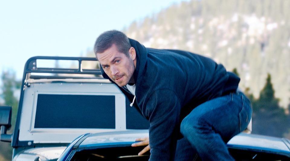 Paul Walker in a still from Fast & Furious 7.
