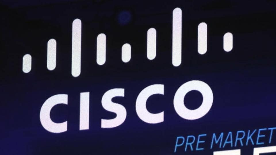 File photo: The Cisco logo appears on a screen at the Nasdaq MarketSite in New York's Times Square.
