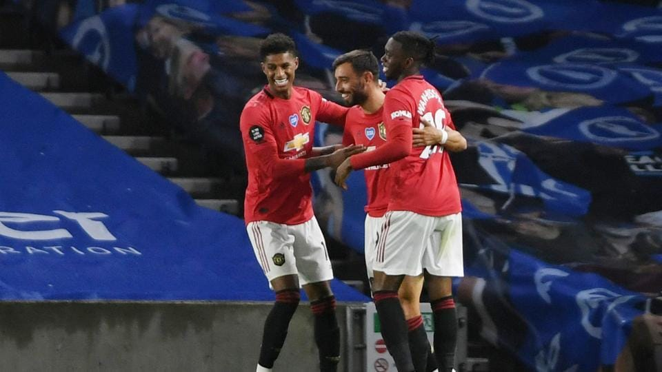 Premier League: Bruno Fernandes double steers Manchester United to ...