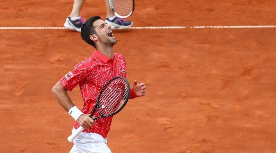 Serbia's Novak Djokovic during Adria Tour at Novak Tennis Centre in Belgrade, Serbia, June 12, 2020.