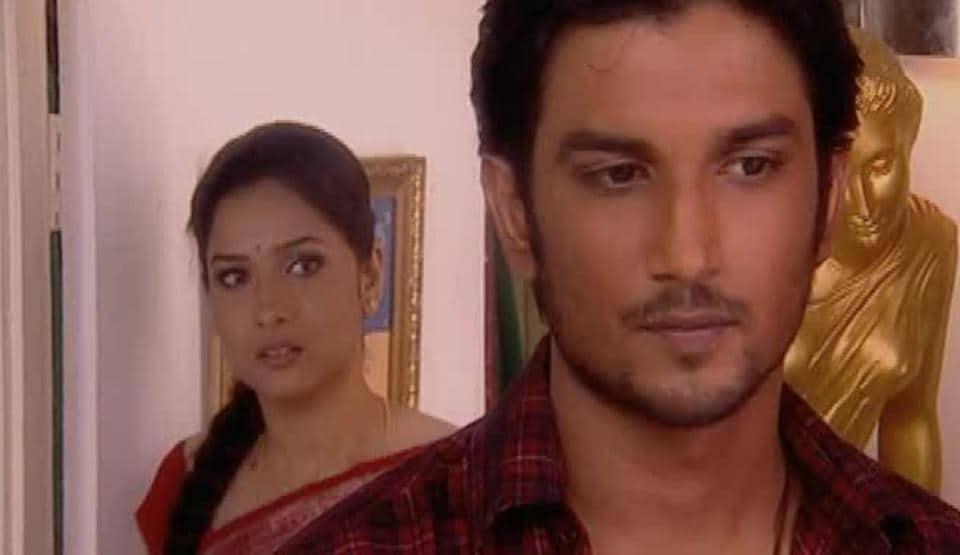 Sushant Singh Rajput and Ankita Lokhande in a still from Pavitra Rishta.