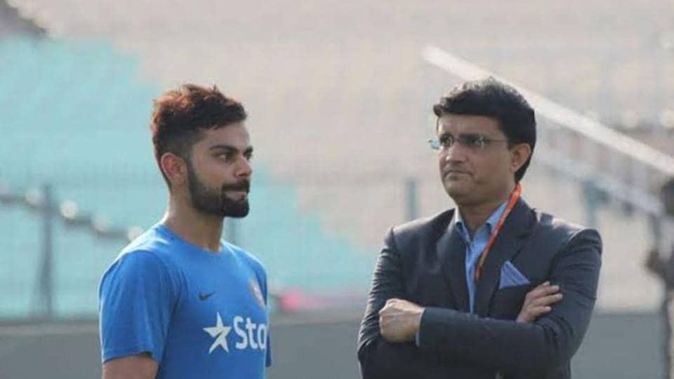 File image of Virat Kohli with Sourav Ganguly.