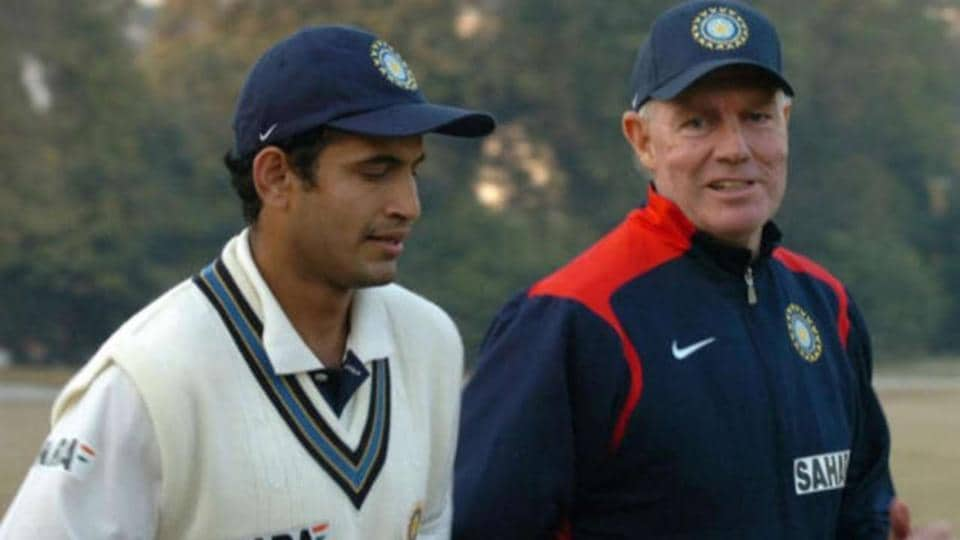 Irfan Pathan with Greg Chappell