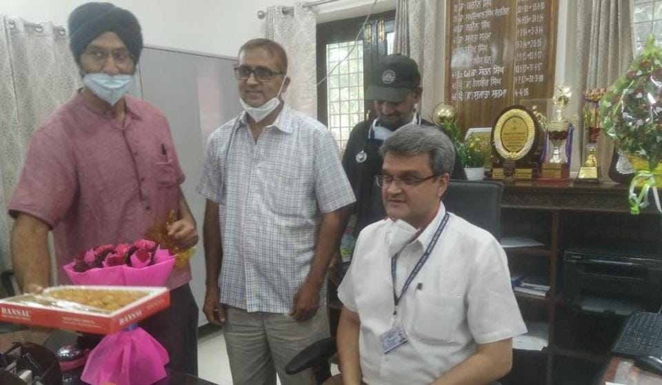 Dr Rajiv Kumar Devgan taking charge as the principal of the Government Medical College, Amritsar, after Dr Sujata Sharma was removed from the post on Wednesday.