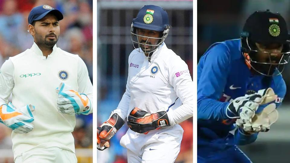 Rishabh Pant, Wriddhiman Saha and KLRahul(From left to right). File photo.