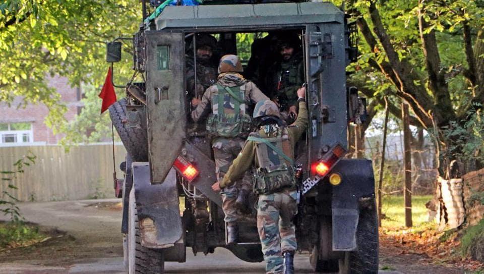 An encounter broke out in Srinagar's Malabagh