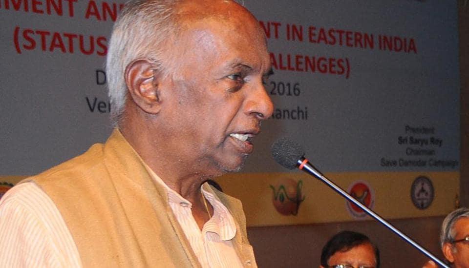 KN Govindacharya address a seminar