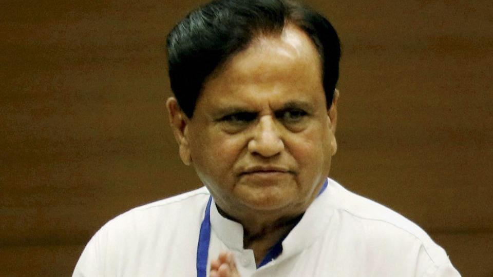 Congress leader Ahmed Patel after casting vote for the Rajya Sabha election at the Secretariat in Gandhinagar last month.