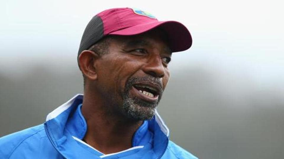 West Indies coach Phil Simmons looks on during a West Indies training session at Blundstone Arena.