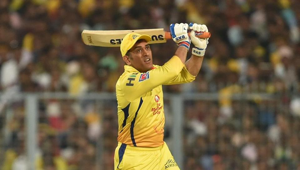 Chennai Super Kings captain MS Dhoni in action during IPL T20 match against Kolkata Knight Riders at the Eden Gardens in Kolkata, India, on Sunday, April 14, 2019. (Photo by Arijit Sen/Hindustan Times)