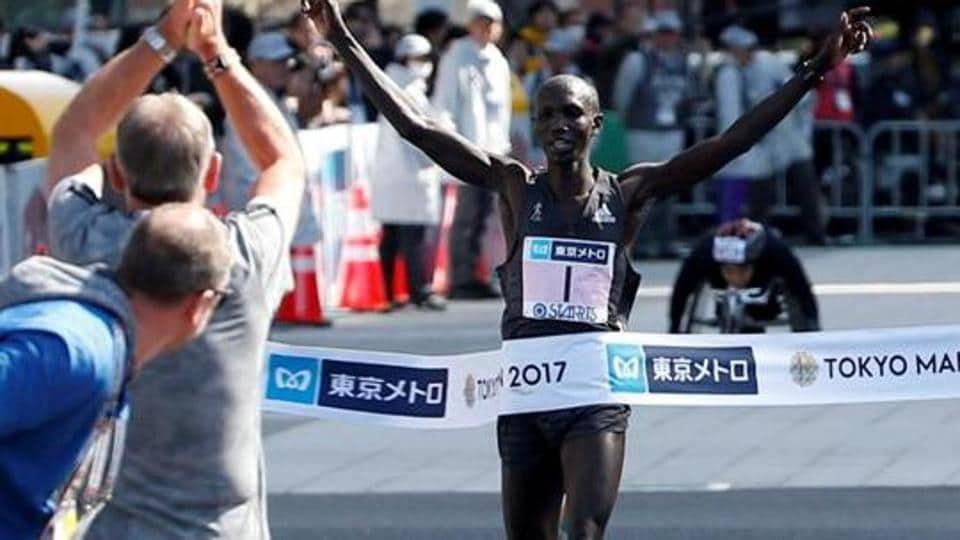 File image of Wilson Kipsang of Kenya.