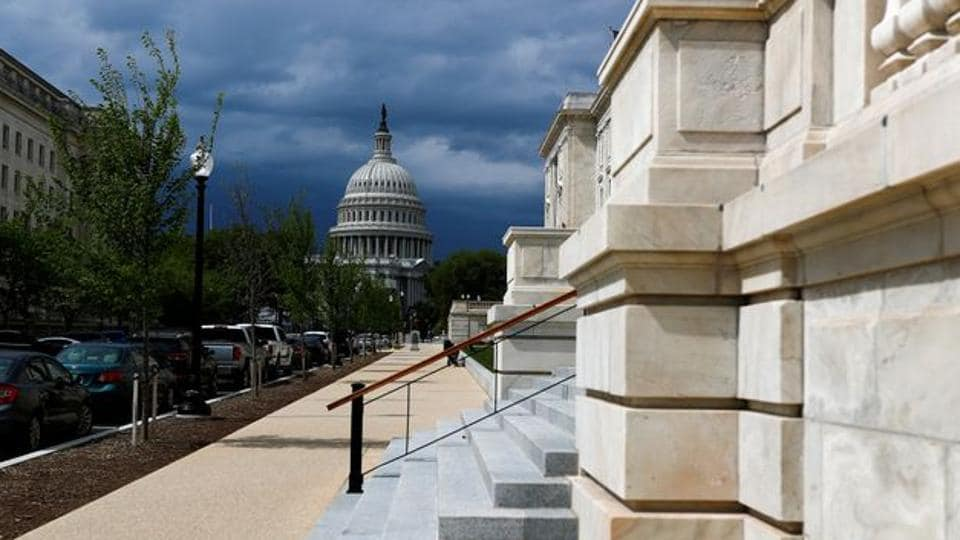 The US Capitol dome is pictured ahead of a vote on the additional funding for the coronavirus stimulus economic relief plan, amid the coronavirus disease outbreak in Washington, US.