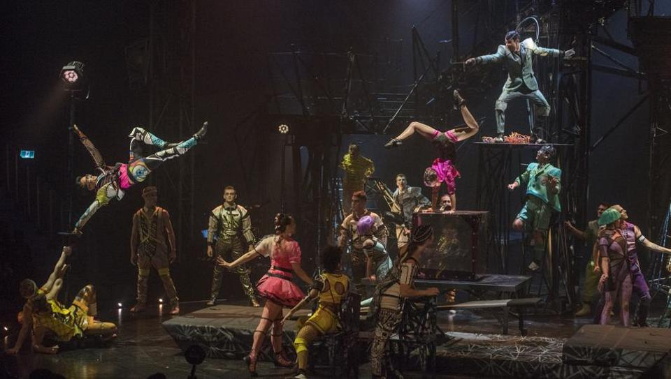 A scene from Cirque Du Soleil's 'Bazzar' in Mumbai in November 2018. As the company filed for bankruptcy protection on June 29, a stalking horse bid was dismissed as inadequate by lenders during a Quebec court hearing into the company's restructuring on June 30.  (Pratik Chorge / HT Photo)