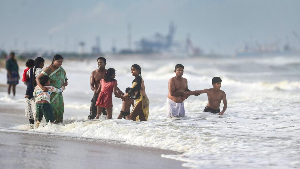 "People seen at Marina beach during the lockdown. Health department officials from the state said that high caseload shouldn't scare people as it is a result of Tamil Nadu's strategy of ""aggressive and increased testing"" and that the state's focus is to reduce its fatalities. The state has a case fatality rate of 1.3%, which is low when compared to the national average of 2.9%, reported HT.  (R Senthil Kumar / PTI)"