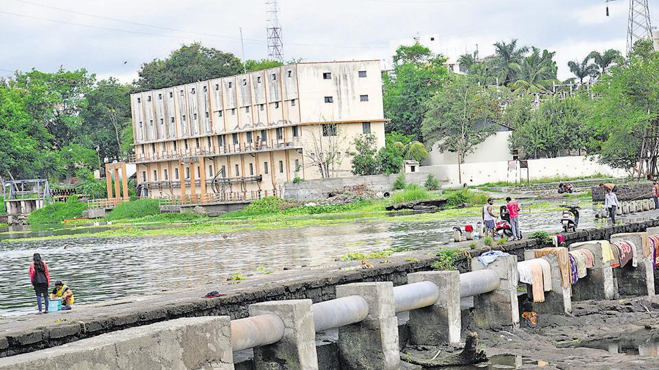 On Friday morning when HT reporter visited the spot at least 20 people were seen washing clothes and vehicles, swimming, taking a bath on the banks of the river.