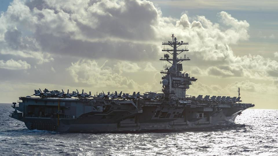 Two nuclear-powered aircraft carriers - USS Nimitz and USS Ronald Reagan - have been deployed by the US Navy in the South China Sea.