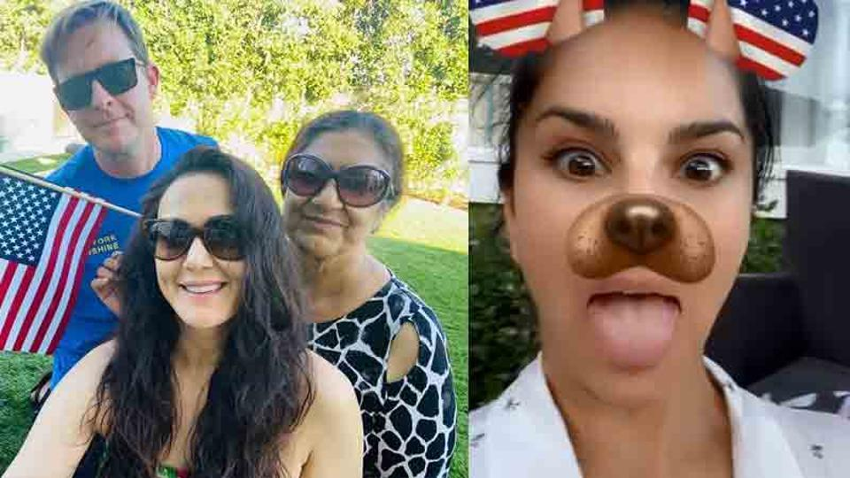 Preity Zinta and Sunny Leone celebrate American Independence Day in the US.