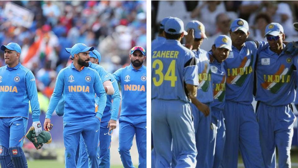 File image of Indian Cricket Team at 2019 World Cup and 2003 World Cup.