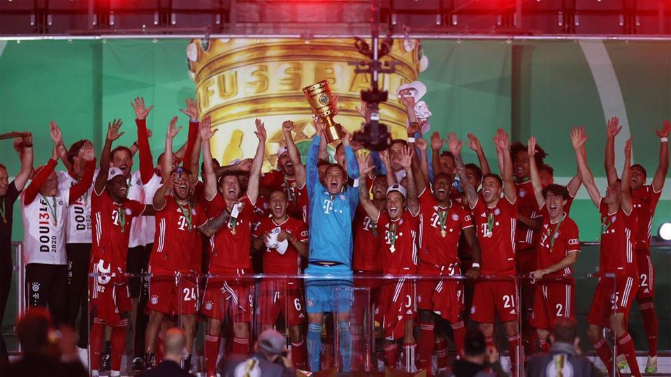 Bayern beat Leverkusen 4-2 to win 20th German Cup, secure another double