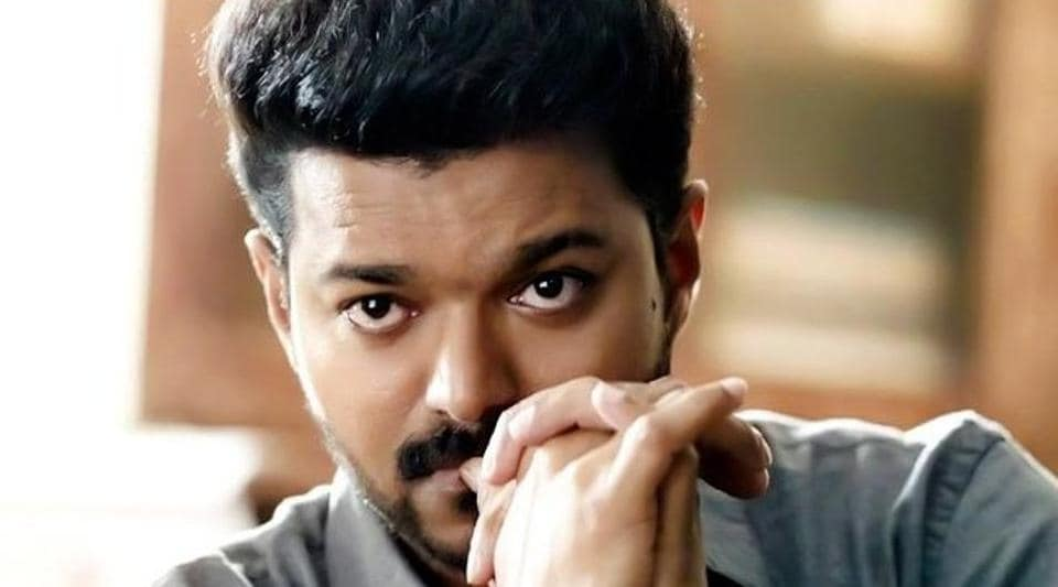 The police searched Vijay's house for a bomb threat which turned out to be false.