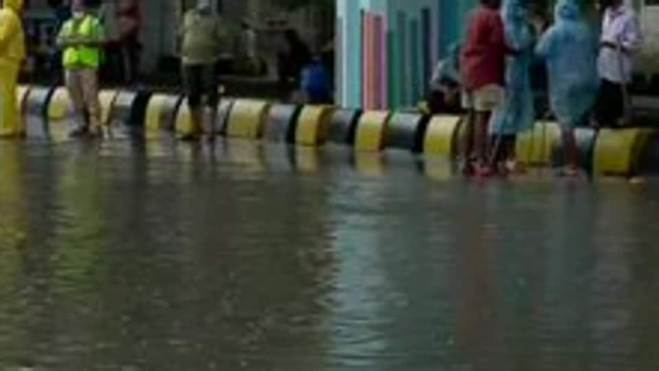 On Saturday, water-logging and traffic jams were reported from some areas in Mumbai