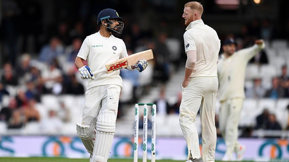 Virat Kohli and Ben Stokes from India's 2018 tour of England.