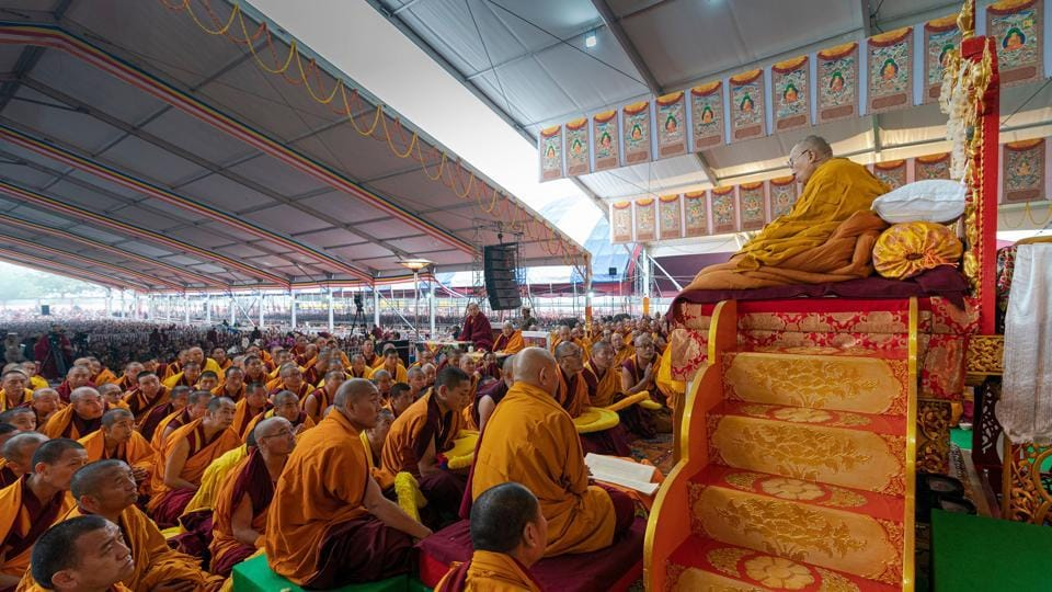 His Holiness the 14th Dalai Lama, who turns 85 on July 6, preaching to his disciples at Bodh Gaya in Bihar. (By special arrangement)