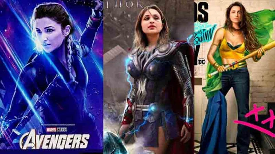 Parineeti Chopra takes Scarlett Johansson, Black Canary's place in photoshopped fan-made posters.