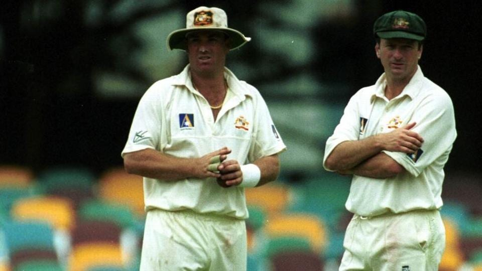 Australia captainSteve Waugh with Shane Warne. File image.