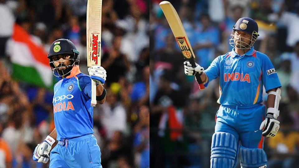 Virat Kohli is just six tons shy of Sachin Tendulkar's 49 ODI centuries.
